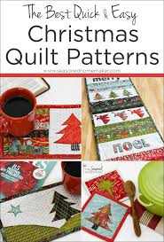 Christmas Quilt Patterns Inspiration The Best Quick Easy Christmas Quilt Patterns The Seasoned Homemaker