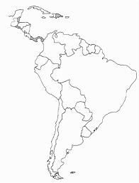 Blank Outline Map Of The Americas Blueappleinc Com