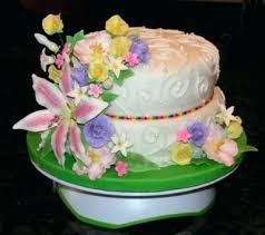 Yellow Spring Garden Birthday Cake A Birthday Cakes Spring Birthday