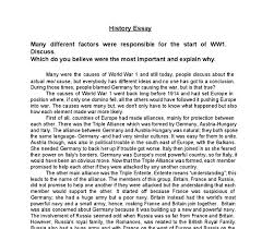 describe the causes of ww gcse history marked by teachers com document image preview
