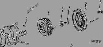 crankshaft pulley and damper d aelig aelig aelig ordm john deere  list of spare parts