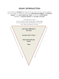 essay introduction upside down triangle