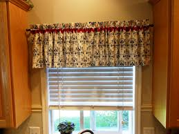 Red And Gold Kitchen Kitchen Cute Kitchen Valanc Curtain Ideas With Red Flower Fabric