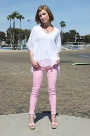 Cj Cookie Johnson Jeans Size Chart Cj By Cookie Johnson Wisdom Ankle Skinny Jeans In Pink
