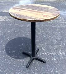 metal pedestal table base. Pedestal Base Table Metal Recycled Pallet Round Top With . T