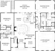 3 Bedroom Open Floor House Plans Ideas