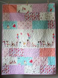 Baby Girl Quilt- Sarah Jane Quilt-Children At Play Quilt- Girl ... & Baby Girl Quilt- Sarah Jane Quilt-Children At Play Quilt- Girl Quilt- Adamdwight.com