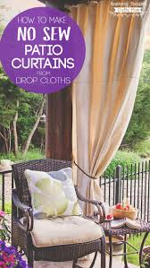 are you looking for a simple solution for the summer sun beating down on your patio these diy patio curtains from drop cloths may be exactly what you need