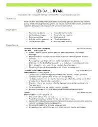 Example Of Customer Service Rep Resume Sample Representative Job