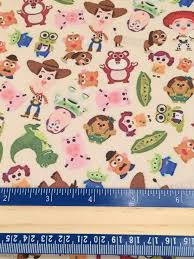 toy story 3 faux leather printed vinyl sheet
