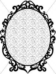 アンティークフレーム 黒 薔薇柄 イラスト素材 2981937 フォト