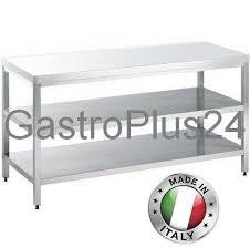 work table with 2 shelves w x d x h 800 x 800 x 850mm top line gastroplus24