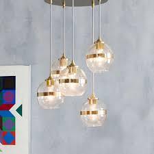 westelm lighting. banded glass chandelier 5light westelm lighting