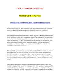 Network Design Paper Cmit 265 Network Design Paper Cmit 265 Network Design Paper