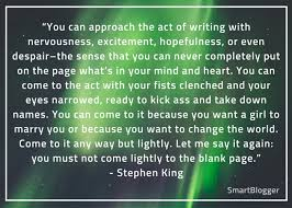 stephen king s tips for becoming a frighteningly good writer stephen king quote 4