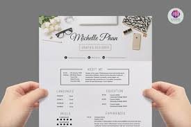 Elegant Resume Templates Awesome Elegant Resume Template By Chic Templates TheHungryJPEG
