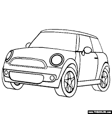 Small Picture Mini Cooper Coloring Page Free Mini Cooper Online Coloring