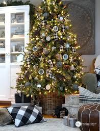 Plaid Christmas Tree Black And White Plaid Buffalo Check Christmas Tree 2015 Michaels