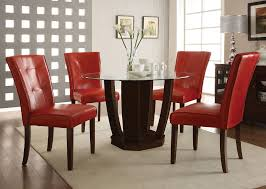red dining room table and chairs nice with photo of