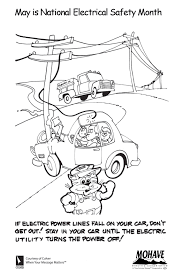 Kids Coloring Page Mohave Electric Cooperative Inc