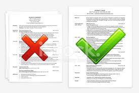 Bad Resume Custom Job Search With Good And Bad Resume Stock Vector FreeImages