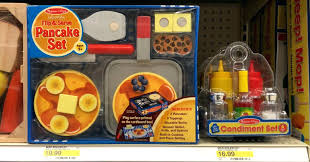 melissa and doug food sets pancake set use the off kitchen dinner pretend foods with this new cartwheel offer final cost wooden toys r us