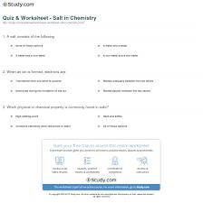 print what is salt in chemistry definition formula worksheet