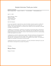 9 Interview Thank You Letter Examples Write Memorandum