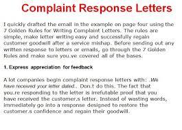 complaint letter template writing complaint response letters response complaint letter example