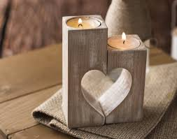 Decorative Candle Holders Wooden Candle Holders Rustic Heart Candle Holders Decorative
