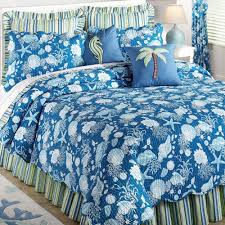 navy blue s and starfish quilt bedding sets plus palm and seahorse accent pillow also stripes added by c carpet on the floor