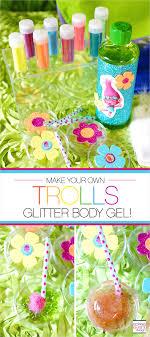 trolls party ideas diy trolls glitter gel