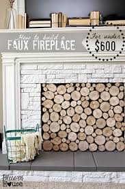 diy faux fireplace on a budget i feel like this needs a drumroll vacation style i m not even exaggerating