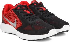 nike shoes red and black. nike revolution 3 running shoes red and black w