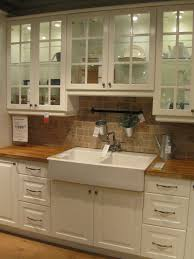 Apron Front Kitchen Sink White Love This Drop In Apron Front Sink And Butcher Block Counter Tops