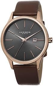 amazon com akribos xxiv men s ak618rg essential dress watch watches akribos xxiv men s ak618rg essential dress watch