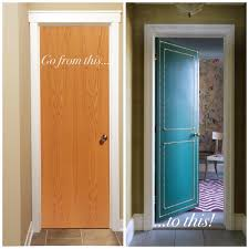 DIY: Do you have boring (ugly) flat interior doors? Why not paint ...