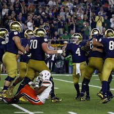 Notre Dame Football Depth Chart For Miami One Foot Down