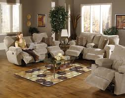 Reclining Living Room Set Sable Earth Fabric Madison Reclining Sofa Loveseat Set