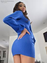 Asian girl Arial Rose in mini dress stretches ass and toys pussy.