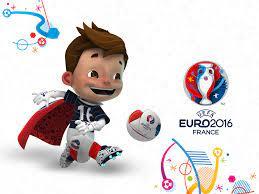 Das offizielle Maskottchen für die Fußball-EM 2016 als Wallpaper