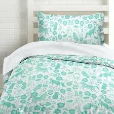 seafoam green duvet covers green folktale forest animals duvet cover bedding white with teal woodland creatures