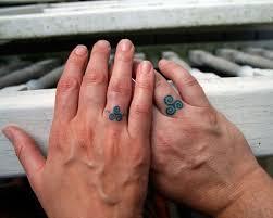 татуировка вместо обручального кольца