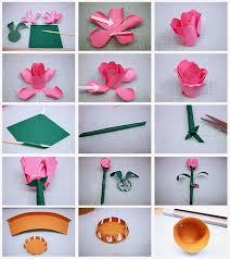 Paper Flower Pots Bits Of Paper Rose Bud Flower Pot