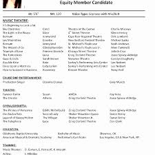 Audition Resume Template Fascinating Audition Resume Template Theatre Elegant Format Acting Daily Actor