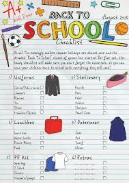 School Checklist Back To School Free Printable Checklist Fab Working Mom Life