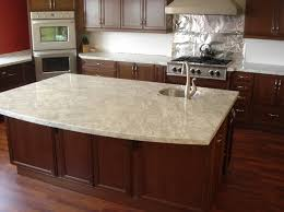 Colonial Cream Granite With Cherry Cabinets