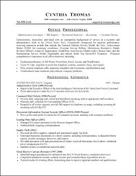 Military Resume Example Sample Military Resume