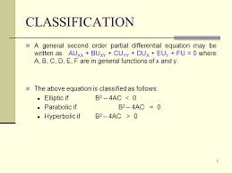2 classification a general second order partial diffeial equation may be written as au