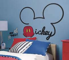 Mickey Mouse Decorations For Bedroom New Giant All About Mickey Mouse Wall Decals Disney Room Stickers
